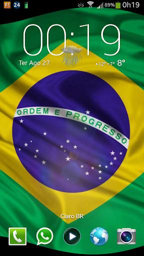 Bandeira Brasil 3D LiveWP