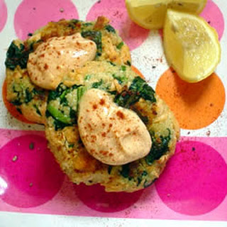 Moroccan Salmon Cakes with Garlic Mayonnaise.
