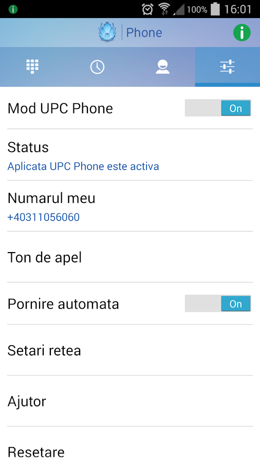 UPC Phone (Romania)- screenshot