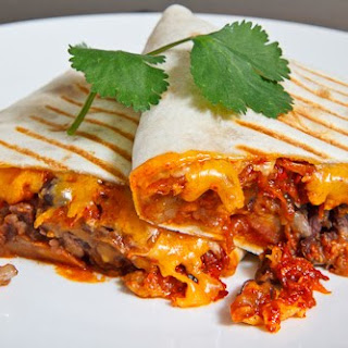 Spicy Pork Bulgogi and Beans Burrito.