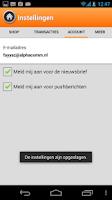 Screenshot of Opwaarderen.nl – Beltegoed App