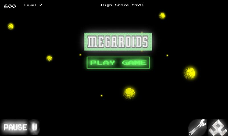 Megaroids Full (Asteroid game - screenshot