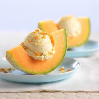 Frozen Cantaloupe Soft Serve