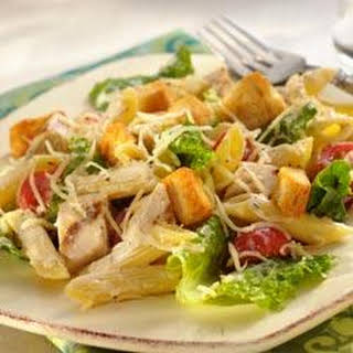 Caesar Pasta Salad with Grilled Chicken.