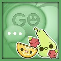 Kawaii Fruits Go SMS Theme icon