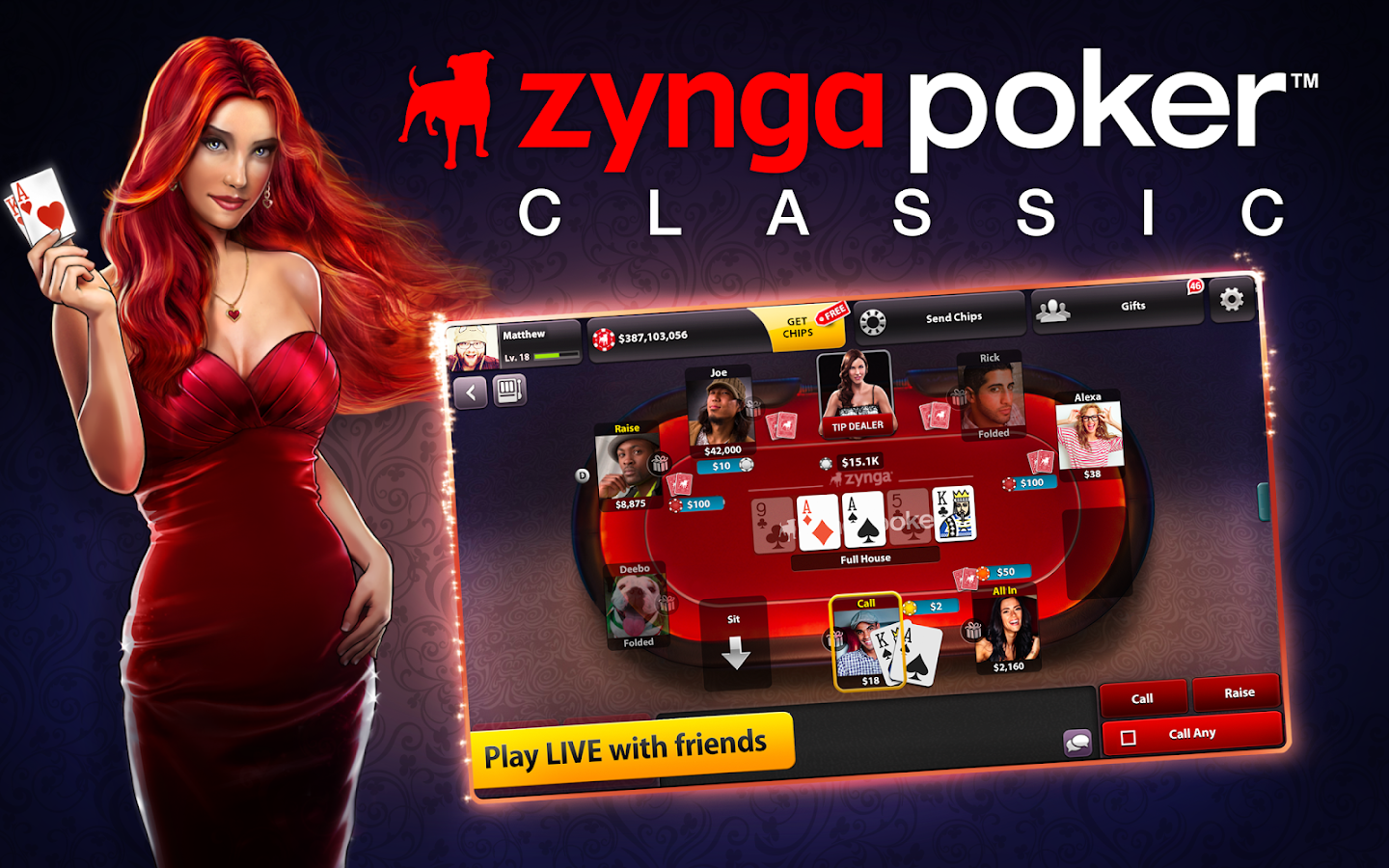 zynga poker game online