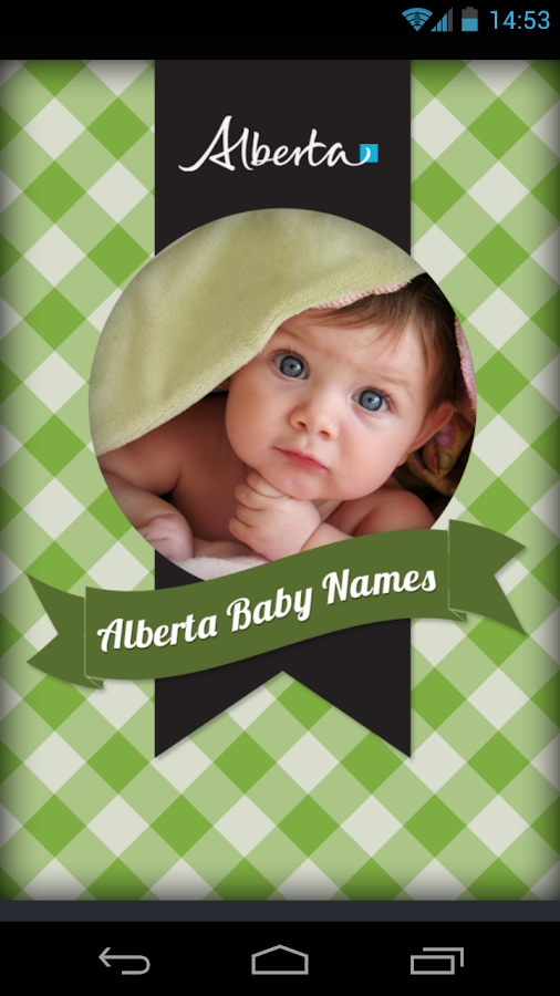 Alberta Baby Names- screenshot