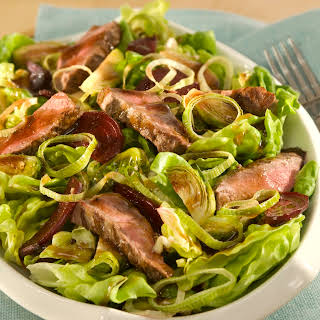 Balsamic Steak Salad With Roasted Brussels Sprouts & Beets.