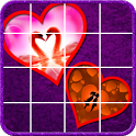 Beautiful Hearts Slide Puzzle icon