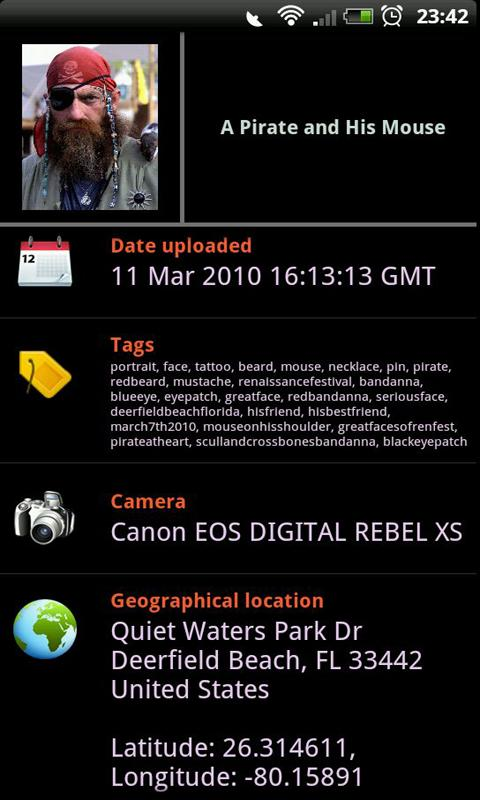 Flickr Earth - screenshot