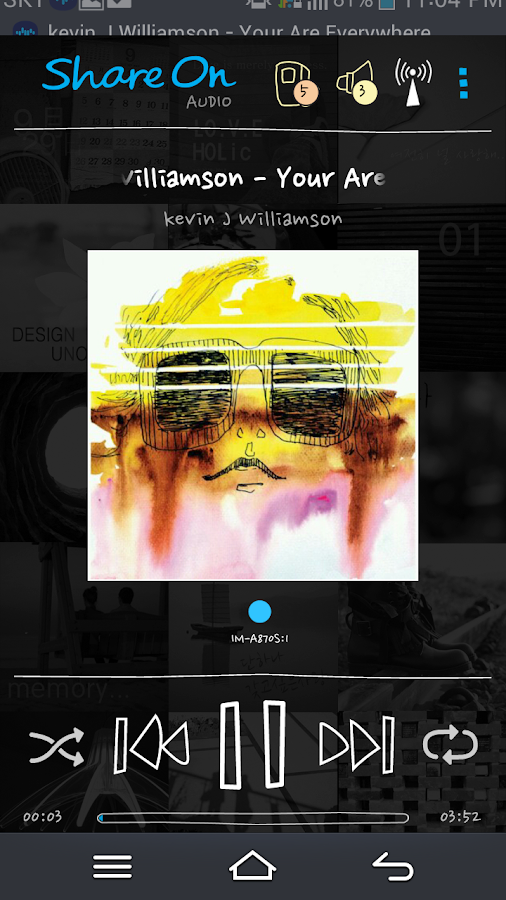 ShareON DLNA WiFi Music Player- screenshot