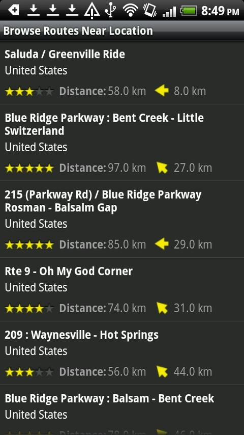Best Biking Roads - screenshot
