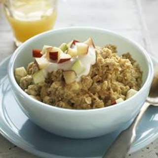 Apple Cinnamon Oatmeal with an Egg Boost