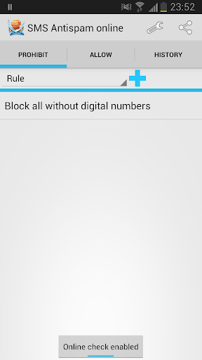 SMS Antispam online