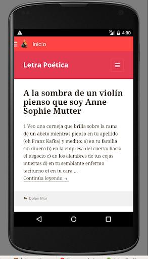 Letra Poética - Poesía