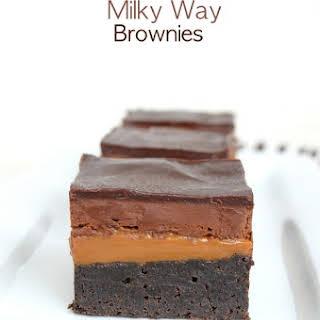 Caramel Milky Way Brownies.