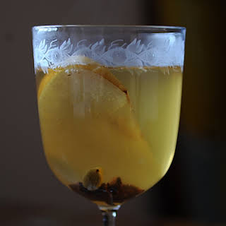 Mulled White Wine with Pear Brandy.