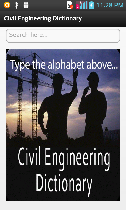 Civil Engineering Dictionary- screenshot