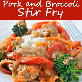Pork and Broccoli Stir-Fry.