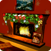 3D Christmas Fireplace HD Live Wallpaper Full