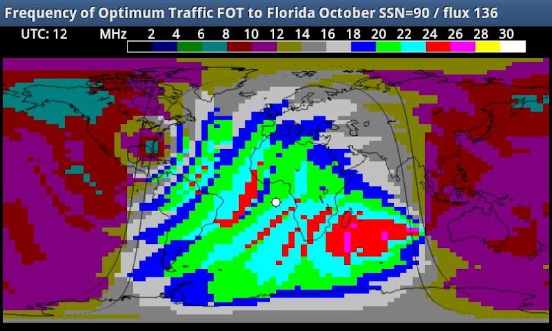 HF_MAP Sky Wave propagation Screenshot