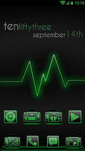Serenity Launcher Theme Green