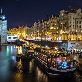 Prague III by Zoran Rudec - City,  Street & Park  Night ( night, prague )