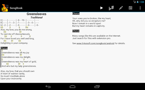 SongBook Screenshot