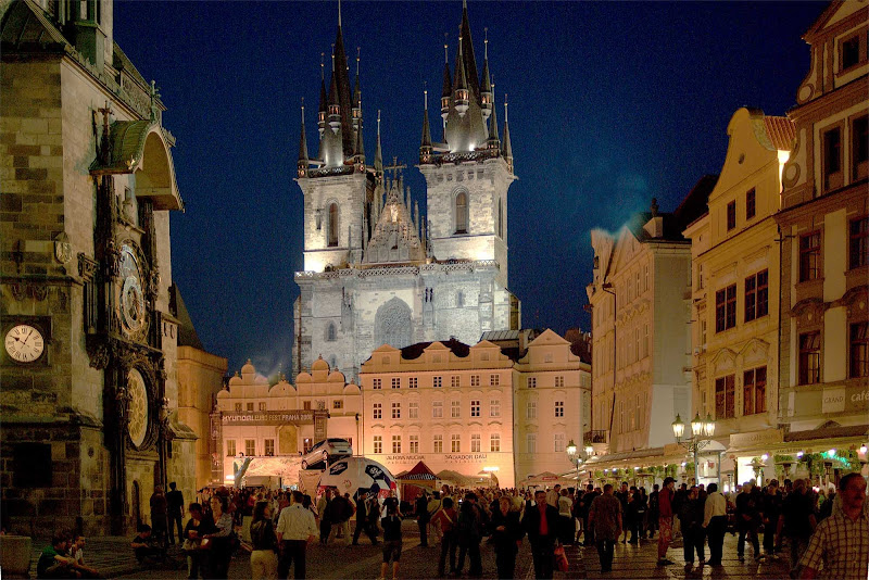 Old Town Square in Prague, the Czech Republic.