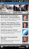 Screenshot of CNR: Conservative News Reader