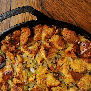 Challah, Mushroom, and Celery