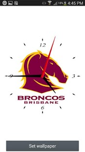 Brisbane Broncos Analog Clock- screenshot thumbnail