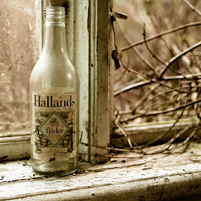 Old bottle of must by Matizki Blixten - Artistic Objects Still Life ( sweden, bottle, must, desaturated, abandoned )