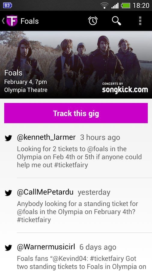 TicketFairy- screenshot