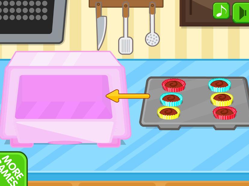 Chocolate cupcake maker Android App Screenshot