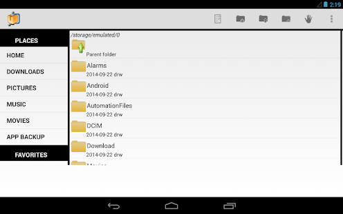 AndroZip™ FREE File Manager Screenshot