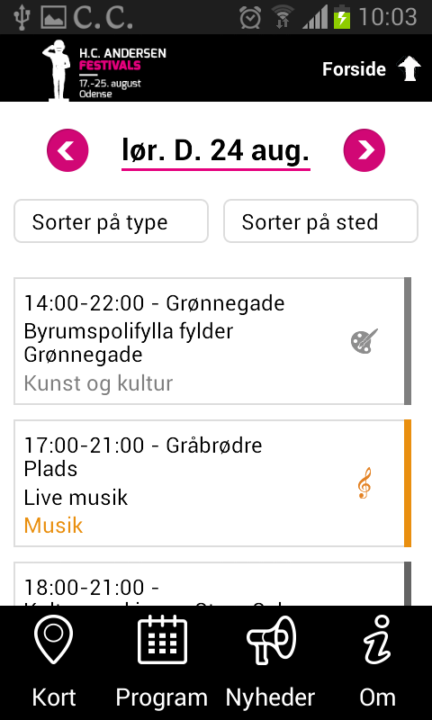 H.C. Andersen Festivals 2015- screenshot
