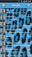 Screenshot of GO SMS Blue Cheetah Theme