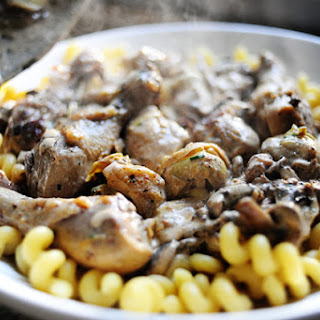 Chicken with Mushrooms and Artichokes.