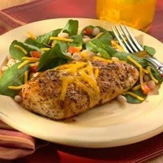 Rosemary Chicken on Navy Bean, Cheddar and Arugula Salad