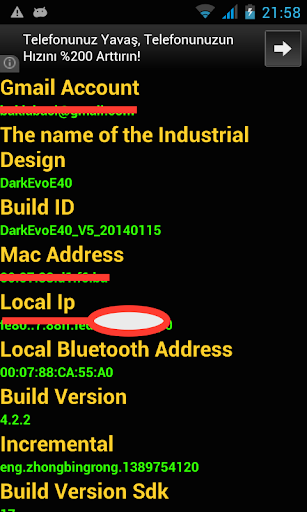 Android Device Informations
