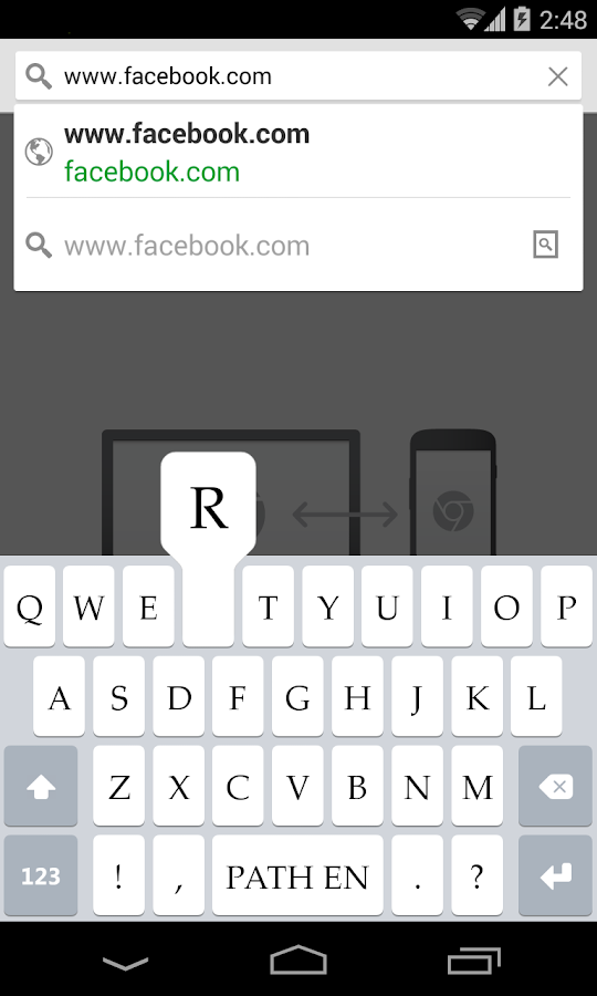 Path Input: A Swipe Keyboard- screenshot
