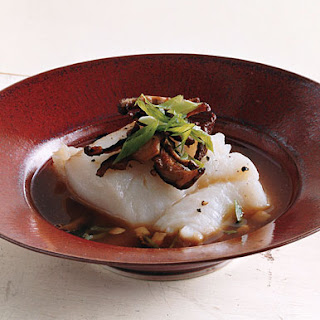 Roasted Cod with Shiitakes in Miso Broth