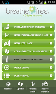 Breathefree App screenshot for Android