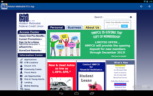 Holston Methodist FCU App- screenshot thumbnail