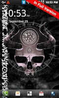 Screenshot of Mystical Skull Free Wallpaper