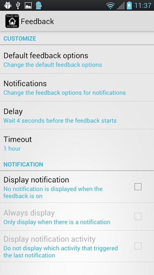 LG P880 Touch LED Notification - screenshot