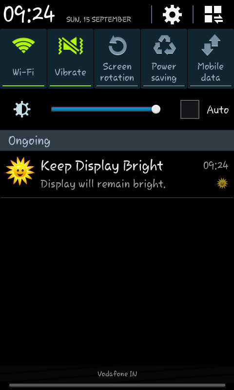 Keep Display Bright - screenshot