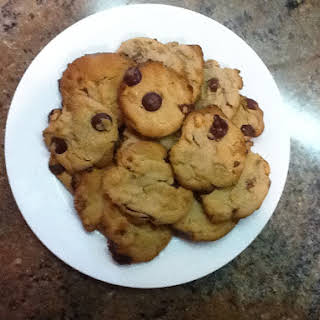 Peanut Butter, Chocolate Chip and Bacon Cookies.