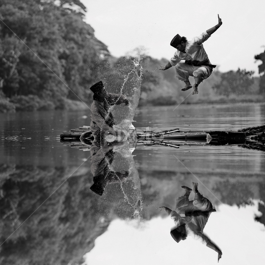 by DODY KUSUMA  - Black & White Sports ( water, person, b&w, man )